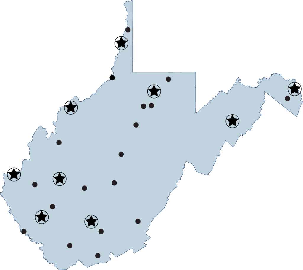 community and tech college map