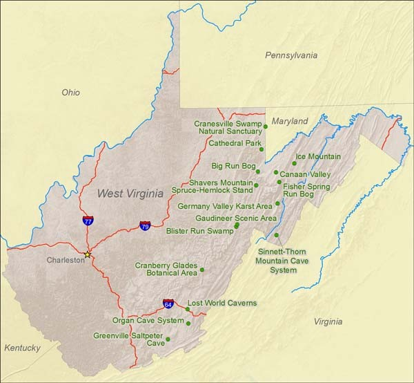 Natural Resources For West Virginia