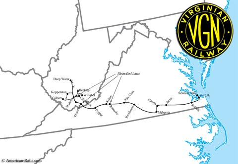 rail virginian map