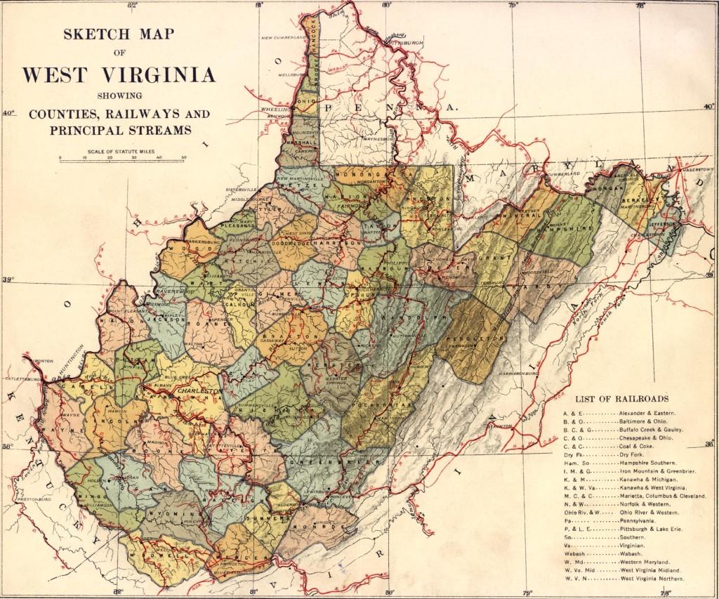 railroad map 1913