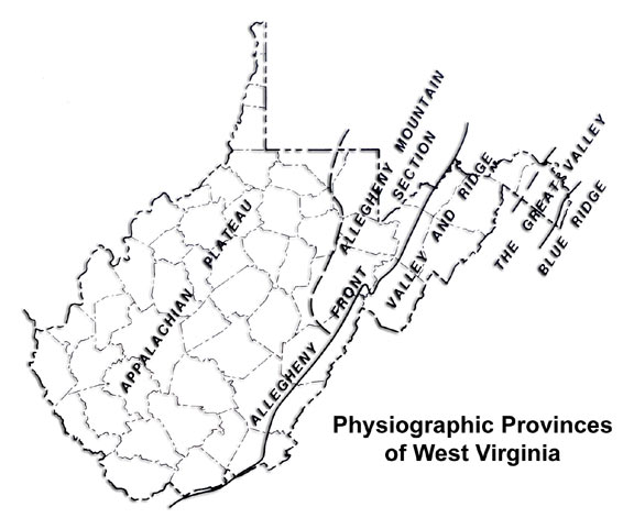wv physiographic provinces