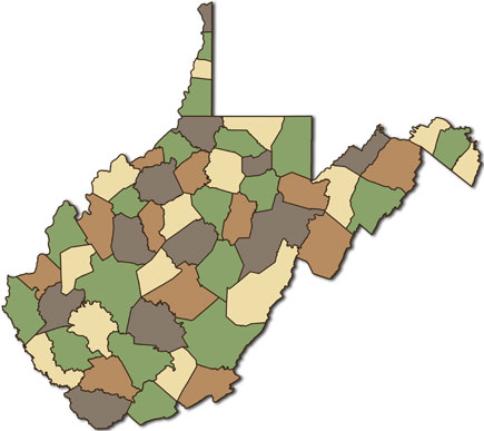 wv county map